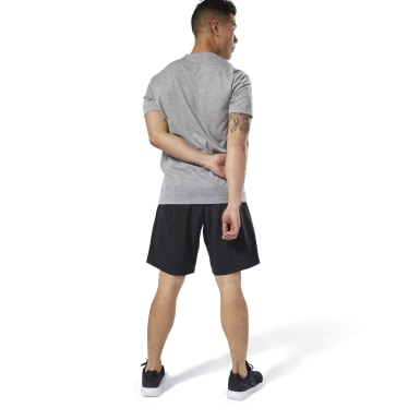 Men Fitness & Training Black WOR Woven Shorts