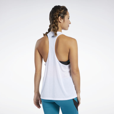 Women Fitness & Training White Workout Ready Supremium Big Logo Tank Top
