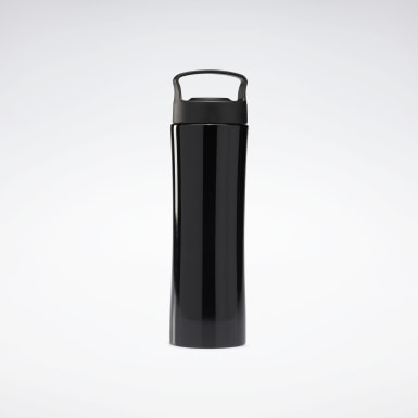 Running Black One Series Training Metal Water Bottle