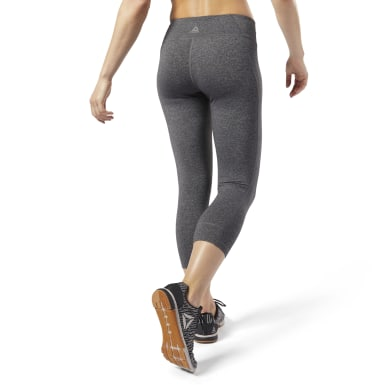 Women Fitness & Training Grey Reebok Lux 3/4 Tights 2.0
