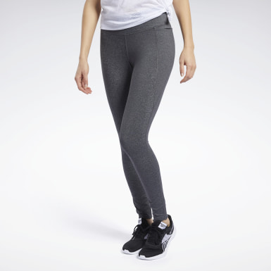 Legging Reebok Lux 2.0 Cinza Mulher Fitness & Training