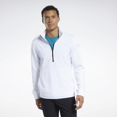 Men Hiking White Speedwick Quarter-Zip Top