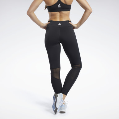 Women Cross Training Black Reebok CrossFit® Mesh Lux Tights