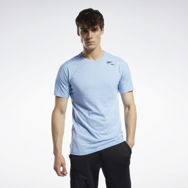 Men Fitness & Training Blue Speedwick Move Tee