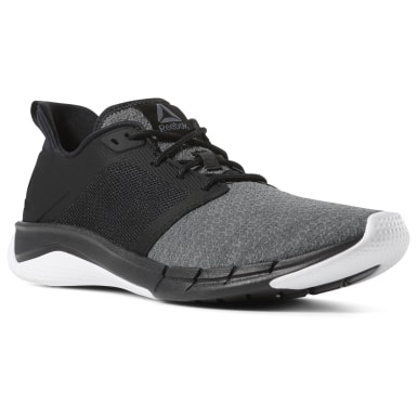 Men Running Black Reebok Print Run 3 Men's Running Shoes