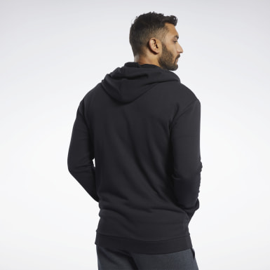 Men Fitness & Training Black Training Essentials Hoodie
