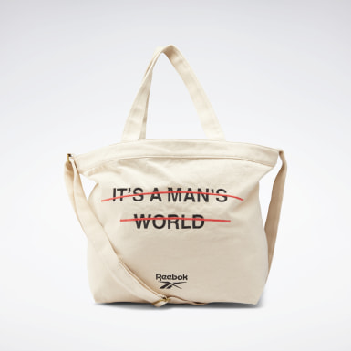 Tote bag Classics It's a Man's World Blanc Classics