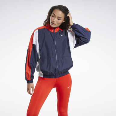 Women Fitness & Training Blue Training Essentials Woven Linear Logo Jacket