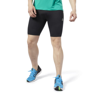 Tights Cortas Boston Track Club Negro Hombre Running