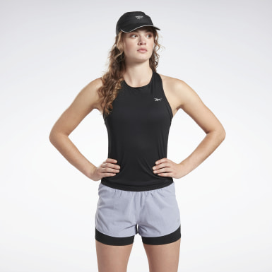 Camiseta sin mangas Running Essentials Negro Mujer Trail Running