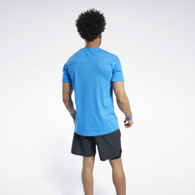 Men Fitness & Training Blue Speedwick Graphic Move Tee