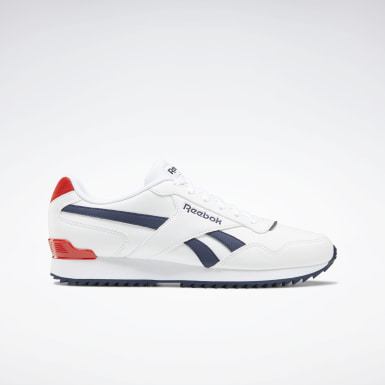 Mænd Classics White Reebok Royal Glide Ripple Clip Shoes