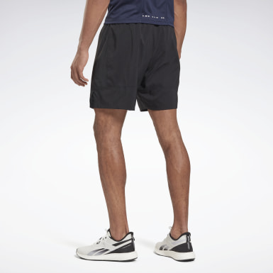 Men Hiking Black Running Essentials 7-Inch Woven Shorts