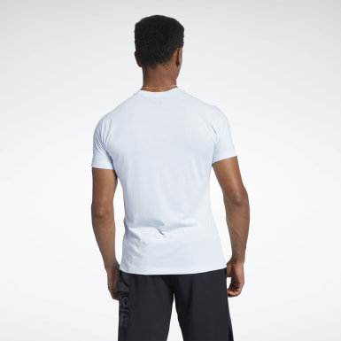 Men Training Blue Reebok CrossFit® ACTIVCHILL+COTTON Tee