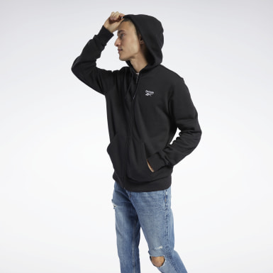 Men Classics Black Classics Vector Full-Zip Hoodie
