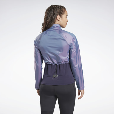 Women Running Purple Night Run Jacket