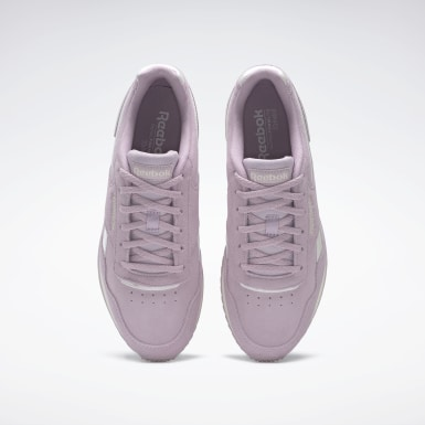 Women Classics Purple Reebok Royal Glide Ripple Shoes