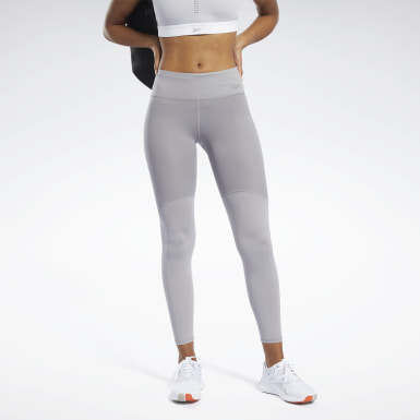 Women Fitness & Training Grey Reebok PureMove Leggings Motion Sense ™