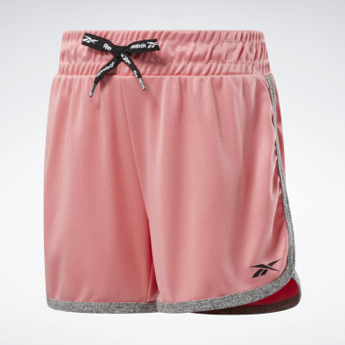 Girls Training 2-Pack Poly Interlock/Cationic Shorts