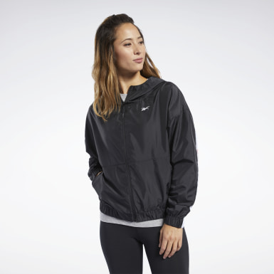 Frauen Fitness & Training Training Essentials Linear Logo Jacket Schwarz