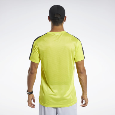 Men Training Yellow Workout Ready Tech Tee