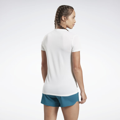 Remera reflectante Reebok One Series Running Blanco Mujer Running