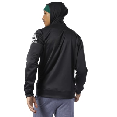 черный Худи Workout Ready Full-Zip Thermowarm