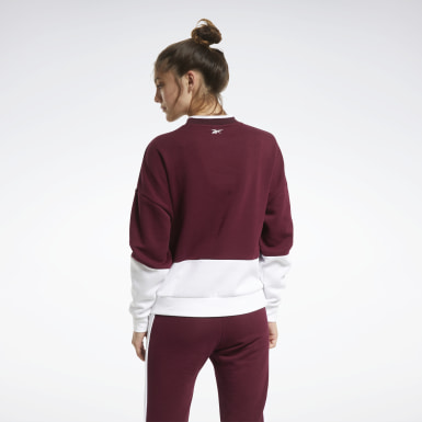 Jersey Training Essentials Logo Crew Burgundy Mujer Fitness & Training