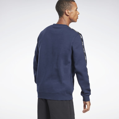 Men Fitness & Training Blue Training Essentials Tape Crew Sweatshirt