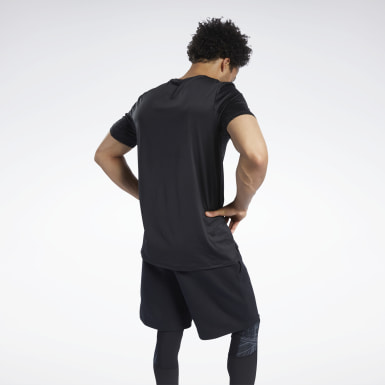 Men Yoga Black SmartVent Graphic Tee