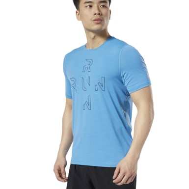 Men Running Blue One Series Running ACTIVCHILL Tee