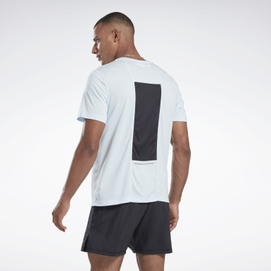 Men Terrengløping Blue Running Essentials Tee