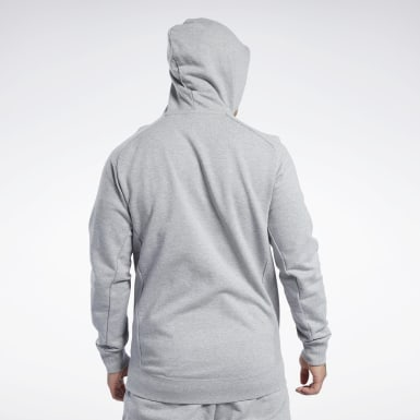 серый Худи Reebok Legacy Full-Zip