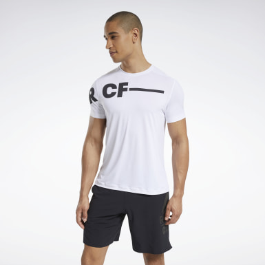Men Cross Training White Reebok CrossFit® ACTIVCHILL T-Shirt
