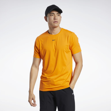 Men Cycling Orange ACTIVCHILL Move Tee