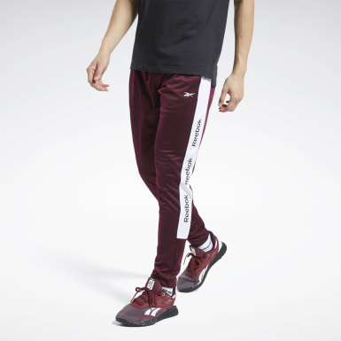 Men Fitness & Training Burgundy Training Essentials Track Joggers