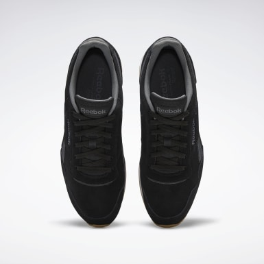 Men Classics Black Reebok Royal Glide Shoes