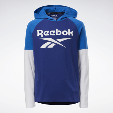 Boys Fitness & Training Blue Reebok Performance Pullover