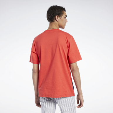 Men Classics Red Classics Linear Tee