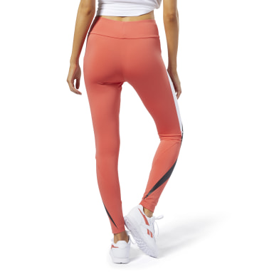 Women Classics Orange Classics Vector Leggings