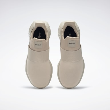Women Running Beige Reebok Lite Slip-On Shoes