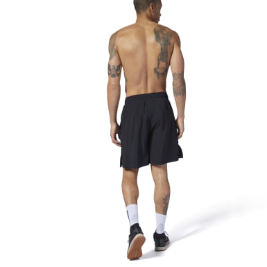 Men Cross Training Black Reebok CrossFit® Austin II Shorts