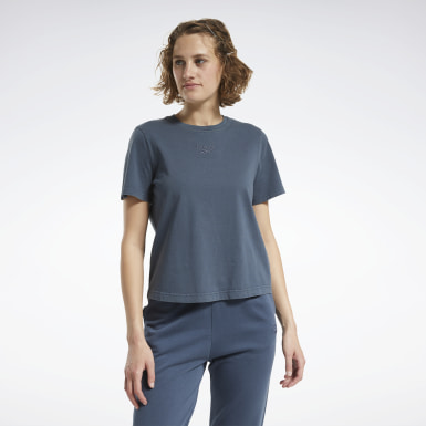 Women Classics Blue Classics Washed T-Shirt