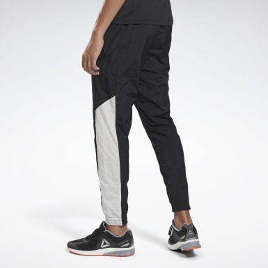 Men Running Black Heritage Run Track Pants