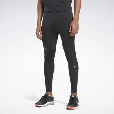 Men Running Black One Series Running Reflective Tights