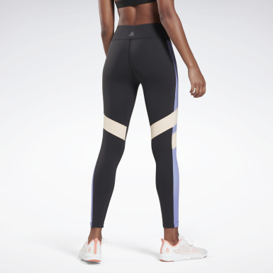 Women Fitness & Training Black OS LUX COLORBLOCK Tight
