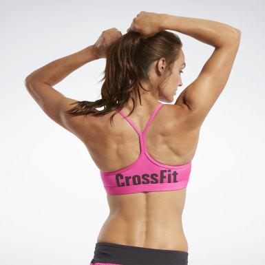 Women Training CrossFit® Skinny Strap Read Medium-Impact Bra