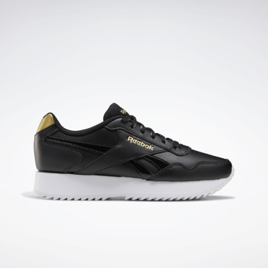 Women Classics Black Reebok Royal Glide Ripple Double Shoes