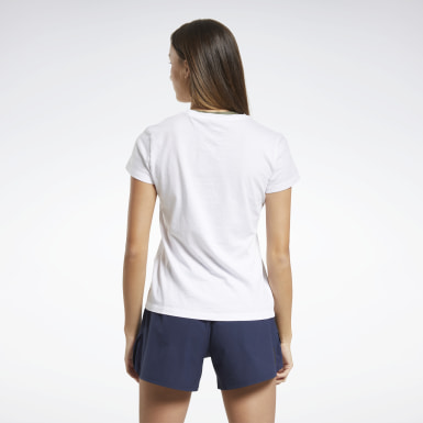 Women Cross Training White Reebok Training T-Shirt