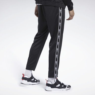 Men Classics Black Classics Vector Tape Track Pants